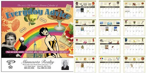 Farmers Almanac Everday Advice Stapled Calendar
