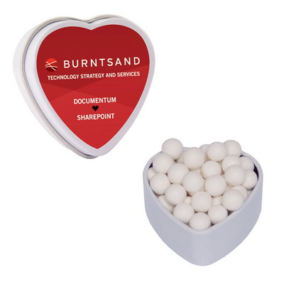 Small Heart Tin with Signature Peppermints