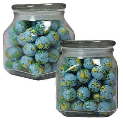 Medium Square Apothecary Jar Chocolate Balls