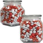 Picture of Medium Square Apothecary Jar Corporate Color Chocolates