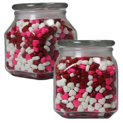 Medium Square Apothecary Jar Hearts