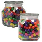 Picture of LargeSquare Apothecary Jar Jelly Beans