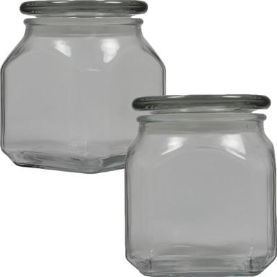 Medium Square Apothecary Jar Empty