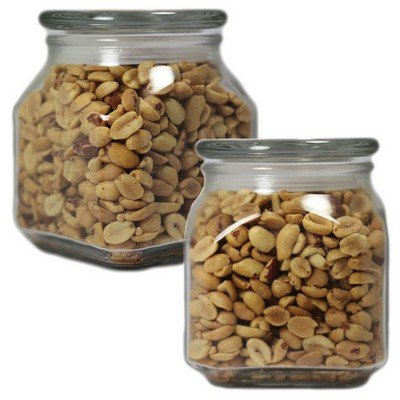 Large Square Apothecary Jar Peanuts
