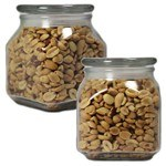 Picture of Large Square Apothecary Jar Peanuts