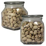 Picture of Large Square Apothecary Jar Pistachios