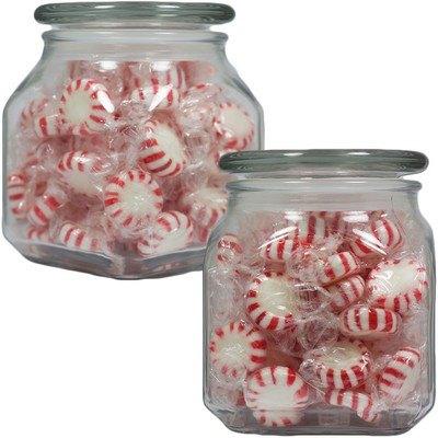 Medium Square Apothecary Jar Signature Peppermints