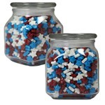 Picture of Large Square Apothecary Jar Stars