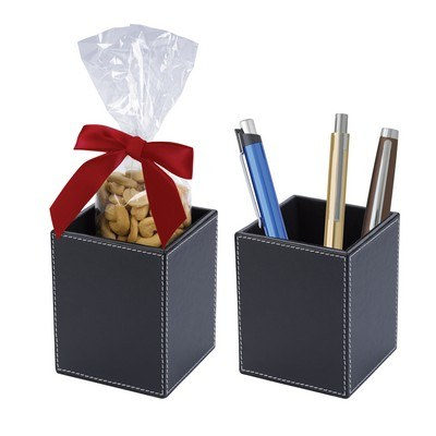 Faux Leather Pen Cup Set Cashews