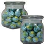 Picture of Small Square Apothecary Jar Chocolate Balls