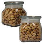 Picture of Small Square Apothecary Jar Peanuts
