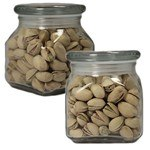 Picture of Small Square Apothecary Jar Pistachios
