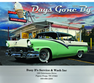 Days Gone By Wall Calendar - Stitched