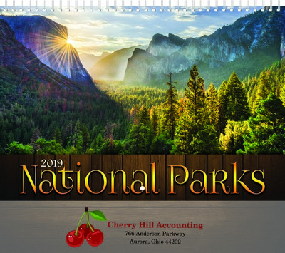 National Parks Wall Calendar - Spiral