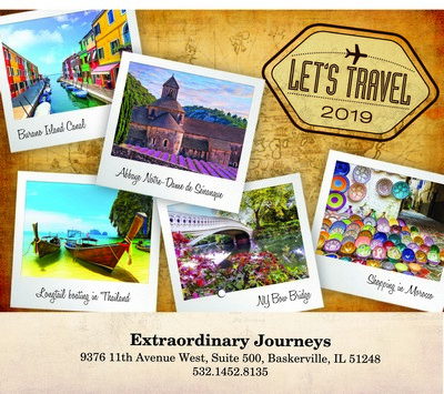 Let's Travel! Wall Calendar - Stitched