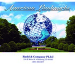 Picture of American Landmarks Wall Calendar - Stitched