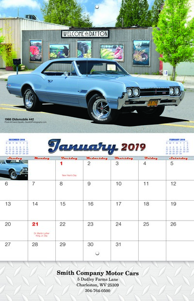 Muscle Cars Wall Calendar - Stitched