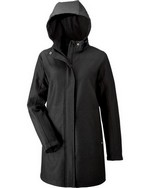 Picture of North End Ladies' City Textured 3-Layer Fleece Bonded Soft Shell Jacket