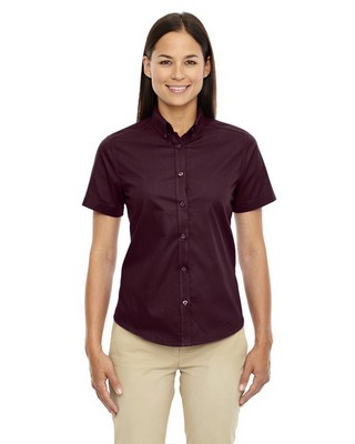 Core 365Ladies OptimumShort Sleeve Twill Shirt