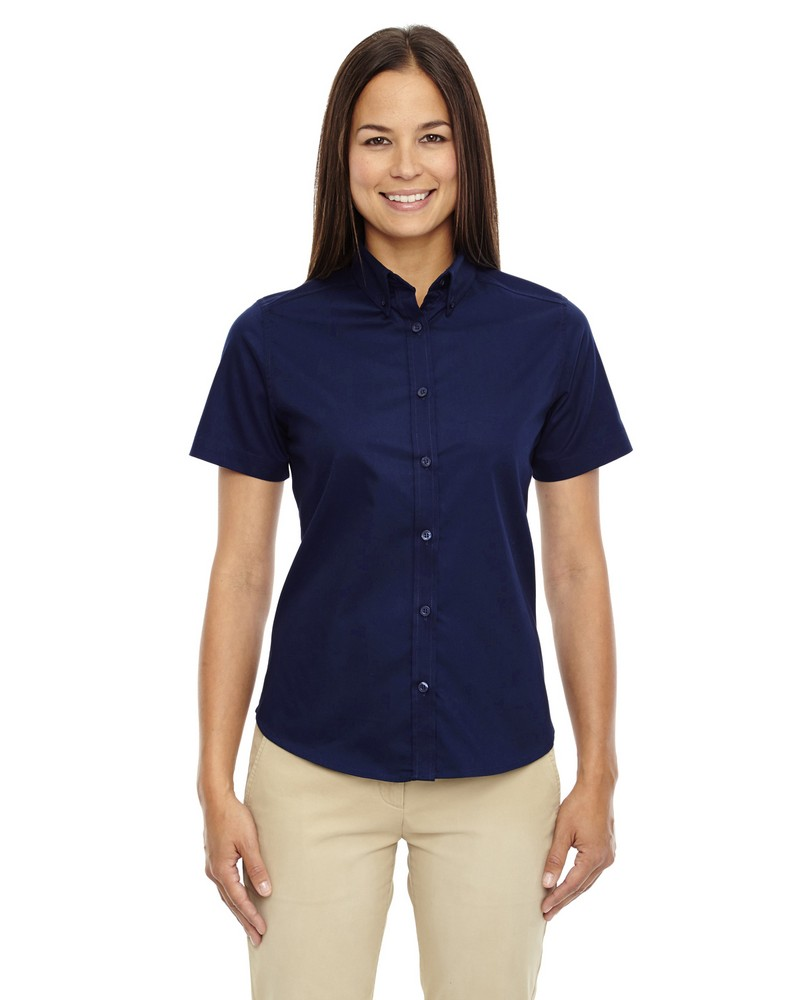 Core 365 ladies optimum short sleeve twill shirt for Short sleeve shirt for women