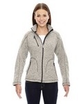 Picture of North End Sport Red Ladies Peak Sweater Jacket