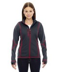 Picture of North End Red Ladies Pulse Textured Bonded Fleece Jacket