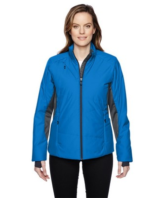 North End Red Ladies Immerge Insulated Hybrid Jacket