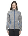 Picture of North End Sport Red Ladies Flux Melange Bonded Fleece Jacket