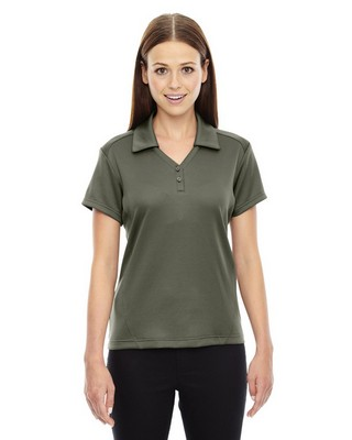 North End Red Ladies Exhilarate Coffee Charcoal Polo