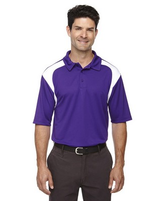 Extreme Mens Colorblock Textured Polo