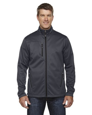 North End Mens Trace Printed Fleece Jacket