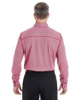Devon & Jones Mens Central Cotton Blend Melange Button Down