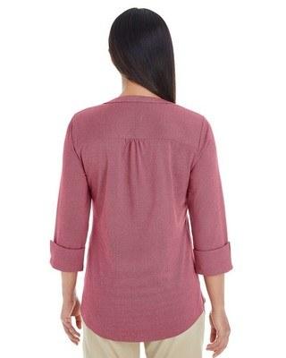 Devon & Jones Ladies Central Cotton Blend Melange Knit Top