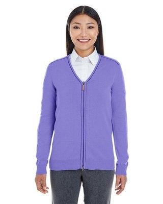 Devon & Jones Ladies Manchester Fully-Fashioned Half-Zip Sweater