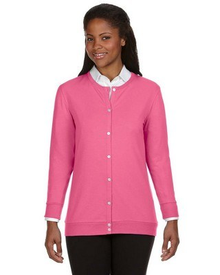 Devon & Jones Ladies Perfect Fit Ribbon Cardigan