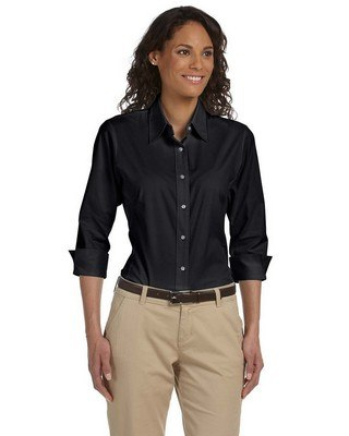 Devon & Jones Ladies Three-Quarter Sleeve Stretch Poplin Blouse
