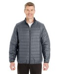 Picture of North End Mens Portable Interactive Printed Packable Puffer