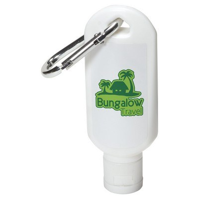 Safeguard 1.8 oz Sunscreen with Carabiner - White