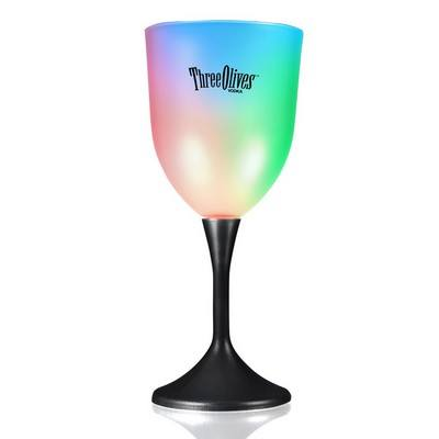 Frosted LED Wine Glass