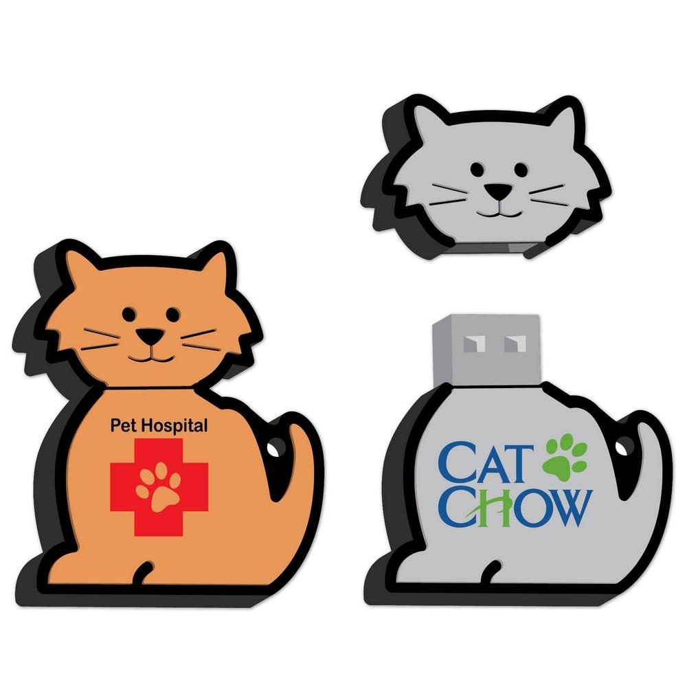 Custom Logo Cat Shaped USB Drive 1 GB | Promotion Pros