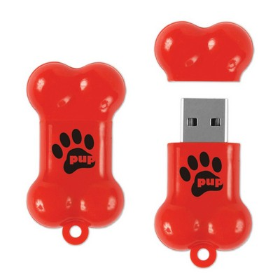 Dog Bone Shaped USB Drive- 1 GB