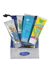 Picture of Large Mesh Bag with Sunscreen, Sunscreen, Jelly, Kids Sunscreen and SPF 15 Lip Balm