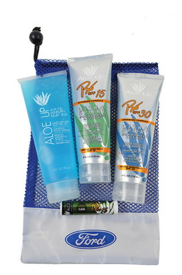 Large Mesh Bag with Pro 30 SPF Sunscreen, Pro 15 SPF Sunscreen, Jelly and SPF 15 Lip Balm