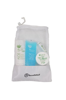 Large Mesh Bag with White Collection 30 SPF Sunscreen, Jelly, SPF 25 For the Face and Lip Balm