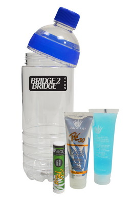 All in One Water Bottle with Sunscreen, Jelly and Balm