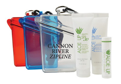 Witz Case with White Collection Sunscreen, After Sun Lotion and Lip Balm