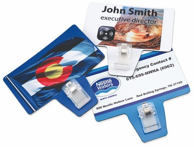 Magnetic Business Card with Clip