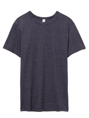Alternative Striped Eco-Jersey Crew T-Shirt