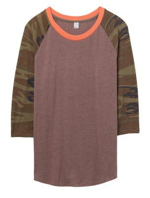 Alternative Baseball Printed Sleeve Eco-Jersey T-Shirt