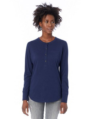 Alternative Donna Organic Pima Cotton Henley w/Pocket